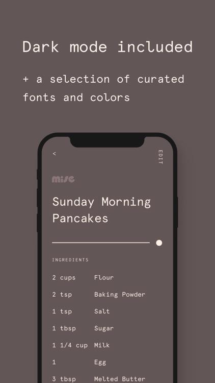 Mise: A minimalist recipe box screenshot-8