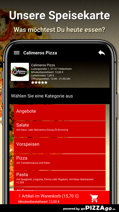 Calimeros Pizza Hildesheim screenshot 4