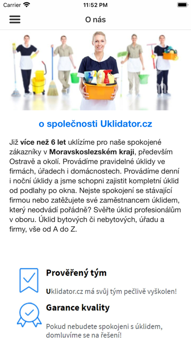 Uklidator.cz screenshot 2
