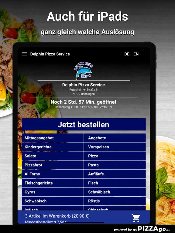 Delphin Pizza Renningen screenshot 7