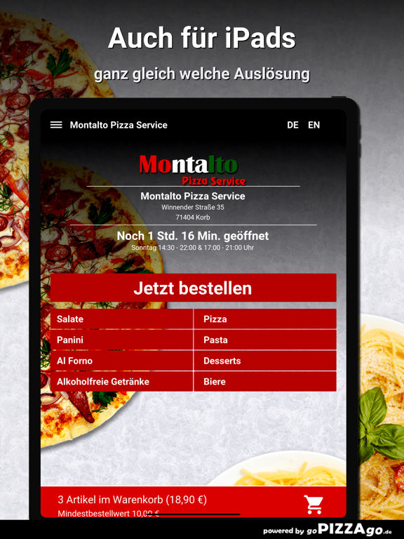 Montalto Pizza Service Korb screenshot 7
