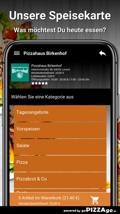 Pizzahaus-Birkenhof Lorsch screenshot 4