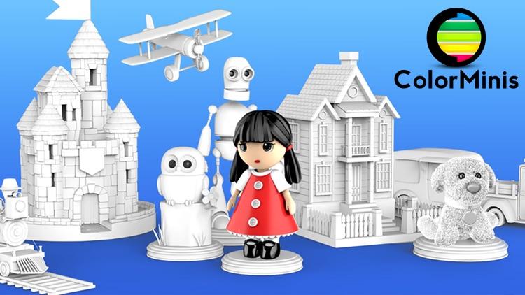 ColorMinis Kids -3D Color Book screenshot-0