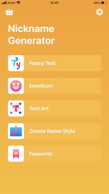 Cool Fonts Nickname Generator