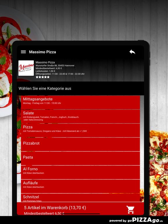 Massimo Pizza Hannover screenshot 8