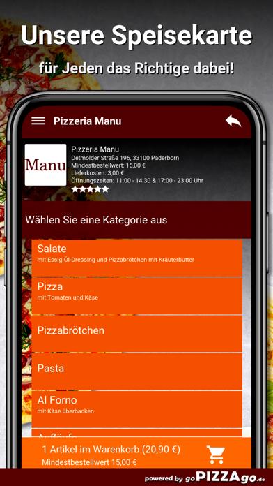 Pizzeria Manu Paderborn screenshot 4
