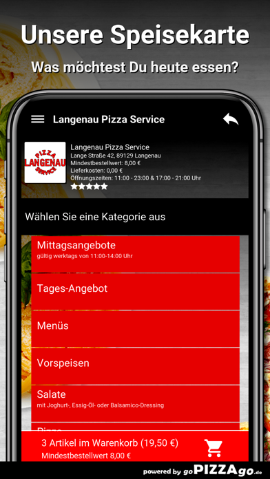 Langenau Pizza Service Langena screenshot 4