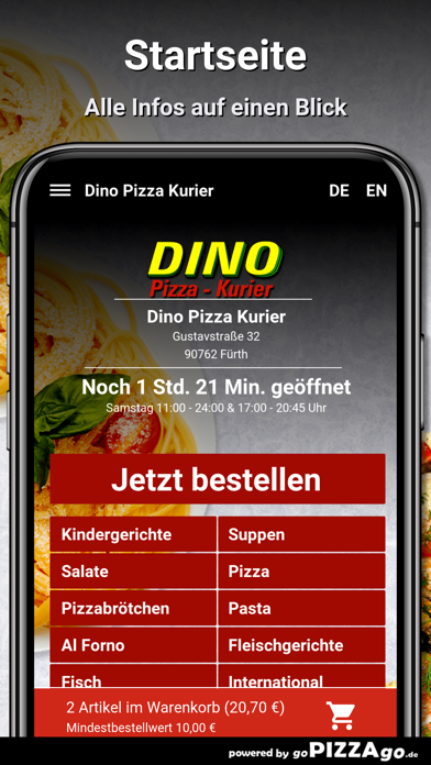 Dino Pizza Kurier Fürth screenshot 4