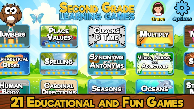 Second Grade Learning Games screenshot-0