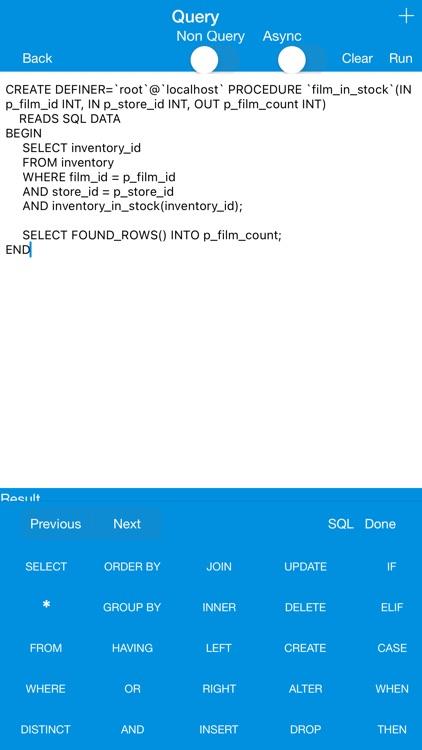 iMySqlProg - MySql Client screenshot-4