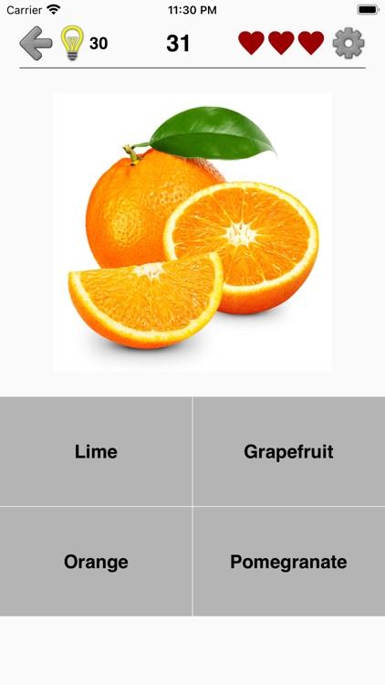 Fruit and Vegetables - Quiz screenshot-3
