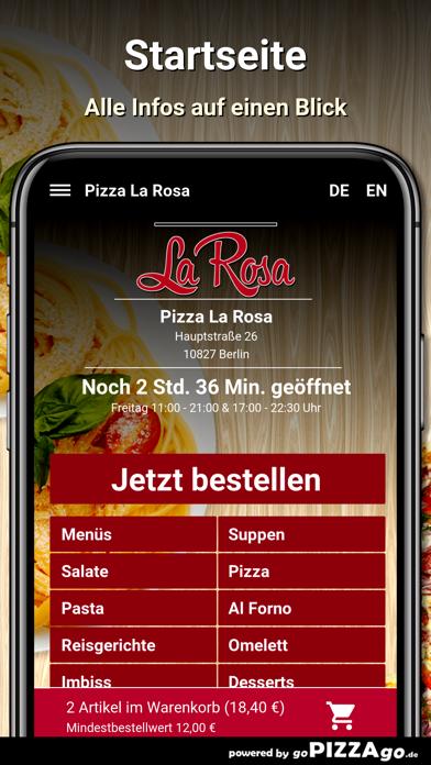 Pizza La Rosa Berlin screenshot 2