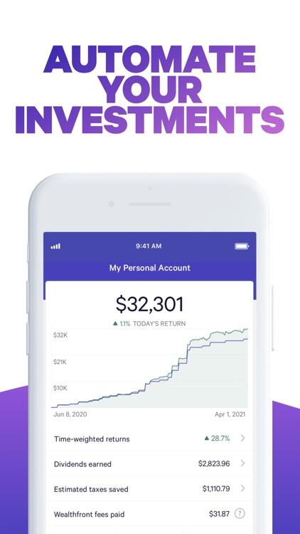 Wealthfront: Earn More screenshot-0