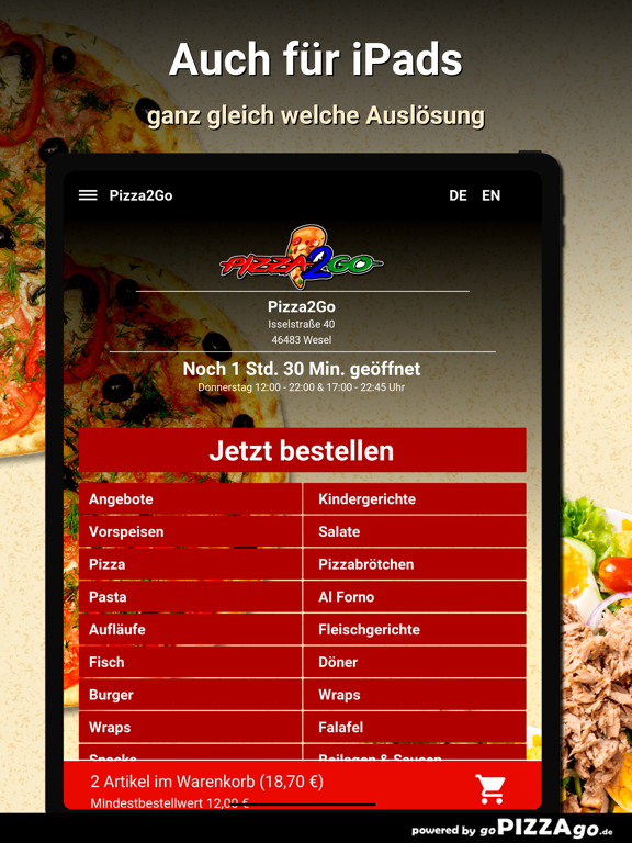 Pizza2Go Wesel screenshot 7