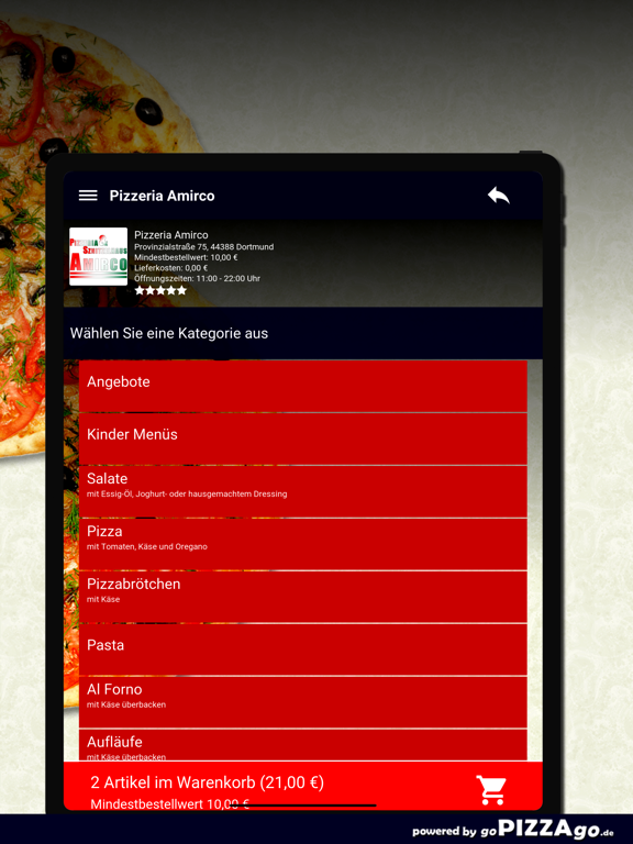 Pizzeria Amirco Dortmund screenshot 8