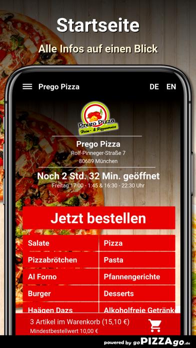 Prego Pizza München screenshot 2