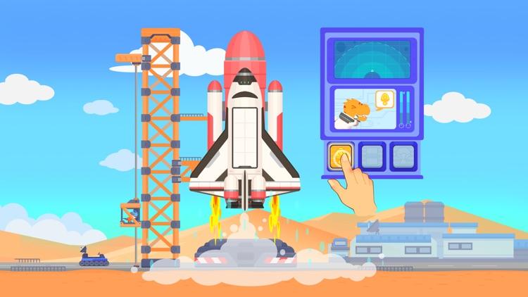 Dinosaur Rocket Games for kids screenshot-0