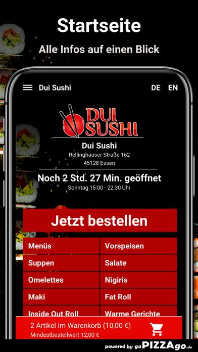Dui Sushi Essen screenshot 2