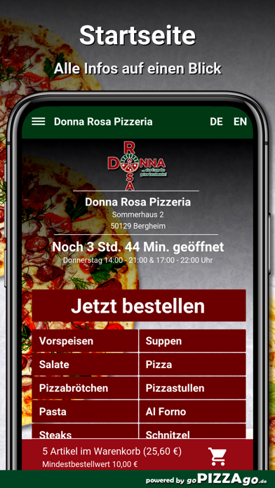 Donna Rosa Pizzeria Bergheim screenshot 2