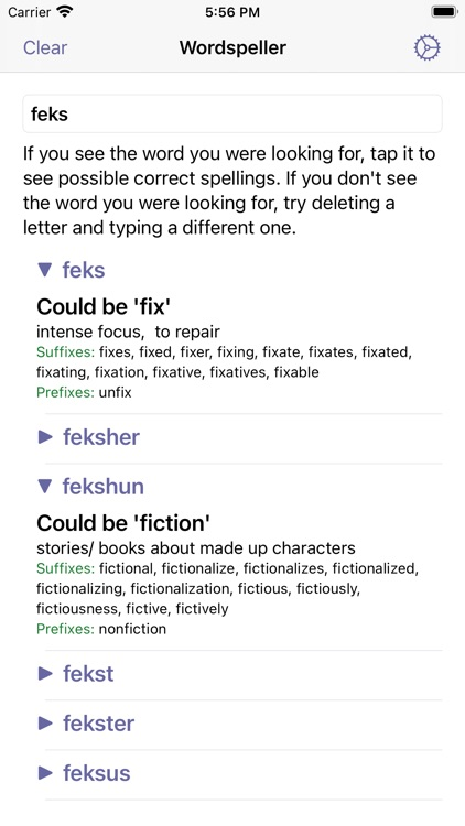 Wordspeller PhoneticDictionary