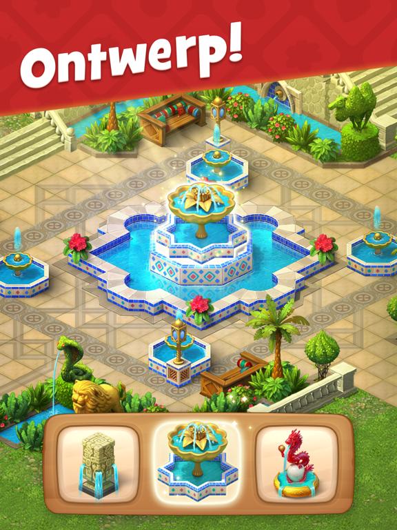 Gardenscapes iPad app afbeelding 2