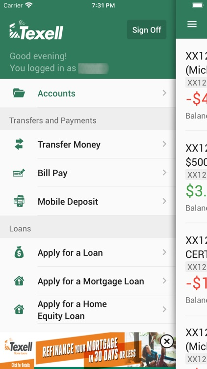 Texell Mobile Banking