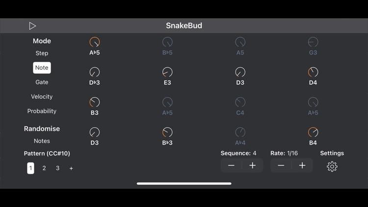 SnakeBud - AUv3 MIDI Sequencer screenshot-3