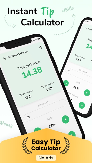 Tip - Calculator & Bill split screenshot 1