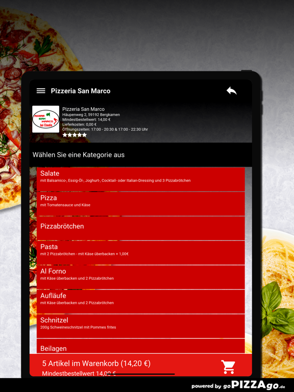 Pizzeria San Marco Bergkamen screenshot 8