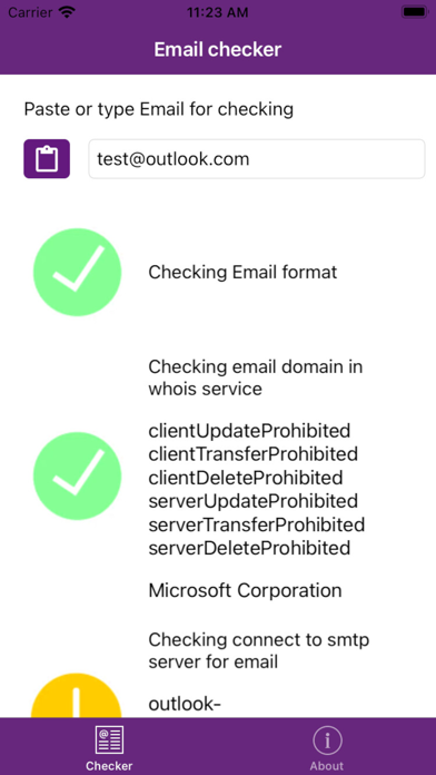 EmailChecker screenshot 2