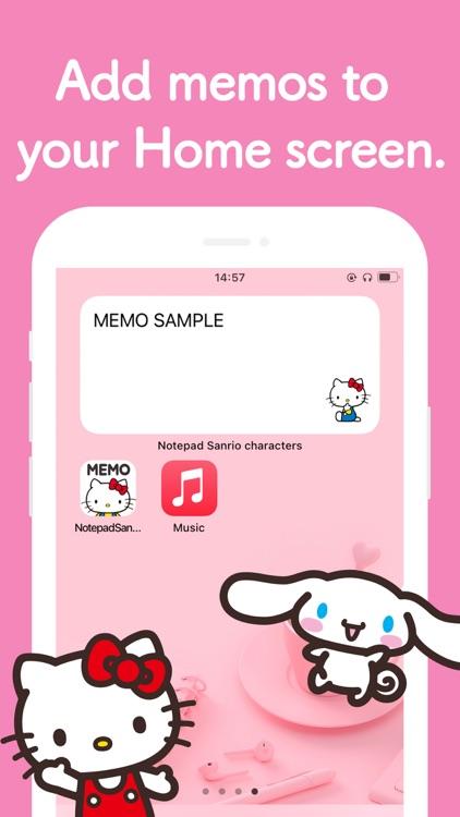 Notepad Sanrio characters