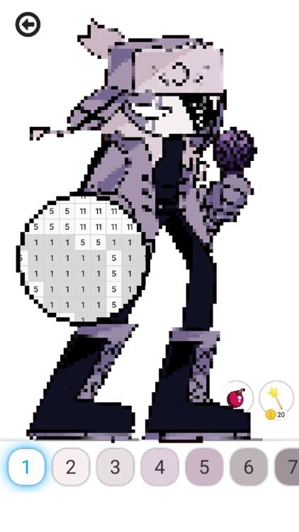 Pixel FNF : Color by Number