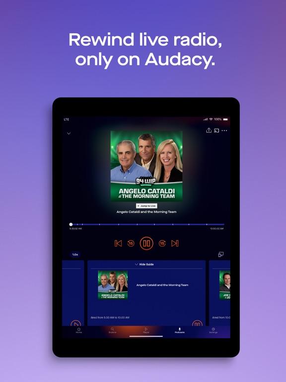 Audacy iPad