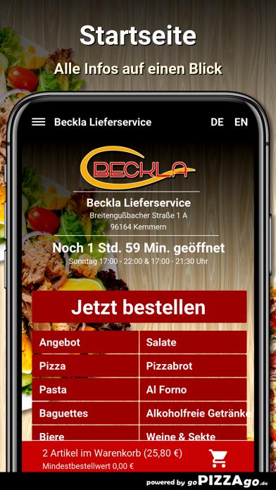 Beckla Lieferservice Kemmern screenshot 2