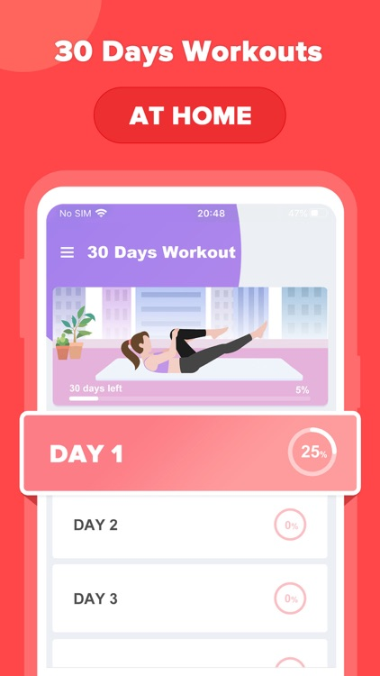 FitMe - 30 day fitness app
