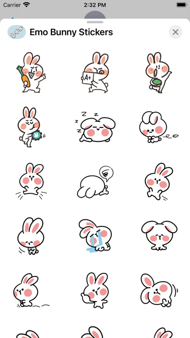 Emo Bunny Stickers screenshot 2