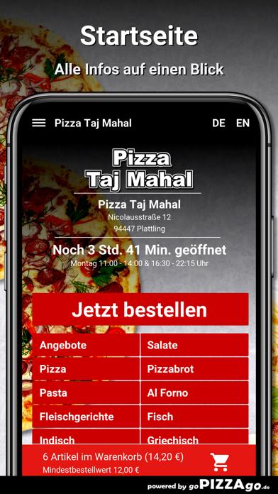 Pizza Taj Mahal Plattling screenshot 2