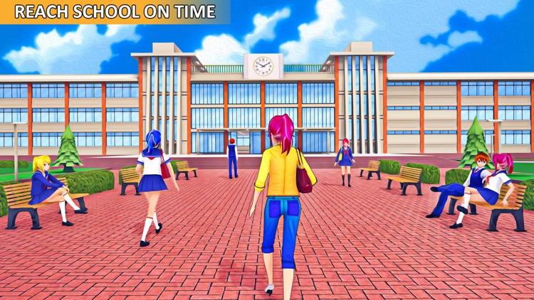 Anime School Girl Life Sim 3D screenshot-5