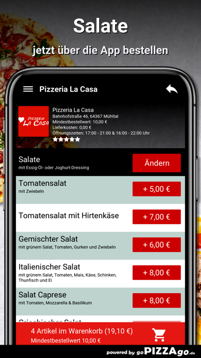 Pizzeria La Casa Mühltal screenshot 3
