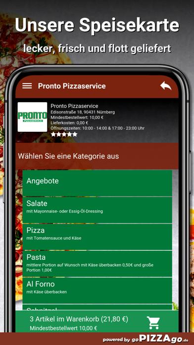 Pronto Pizzaservice Nürnberg screenshot 4