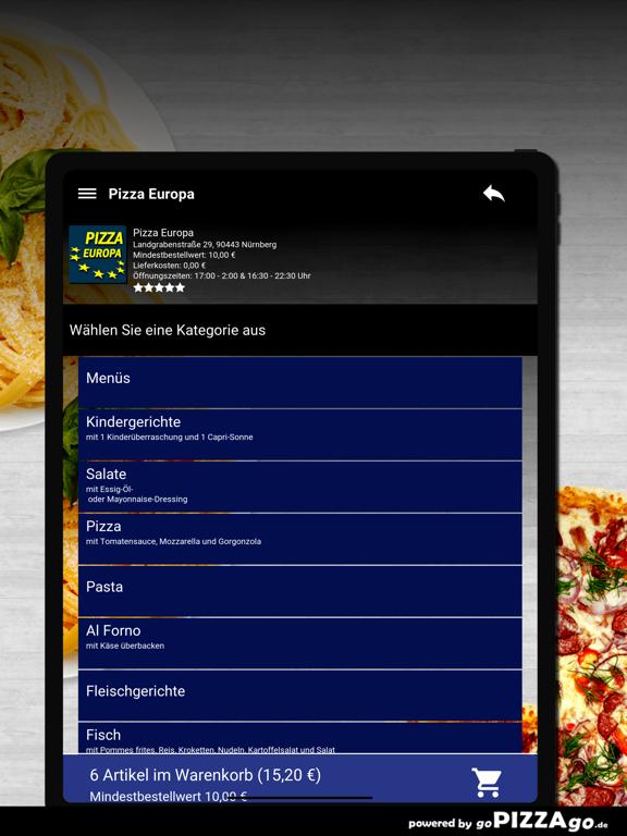 Pizza Europa Nürnberg screenshot 8