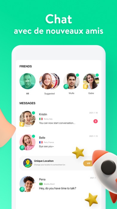 Azar: Chat vidéo en live