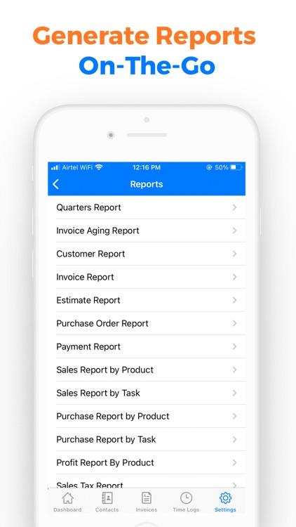 Simple Invoice Maker App- Moon screenshot-3