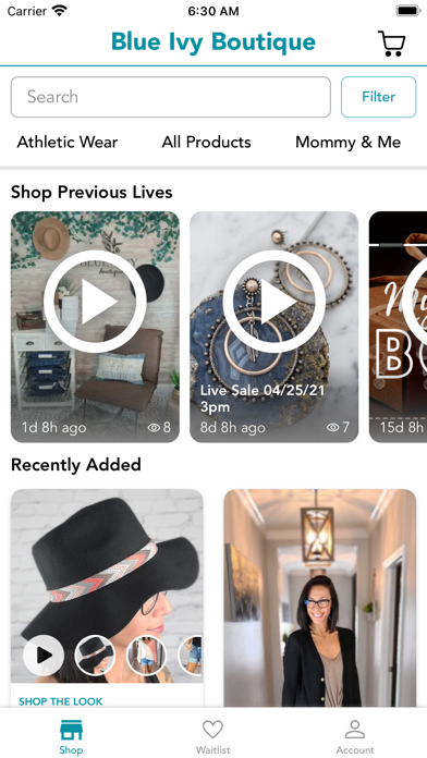 Blue Ivy Boutique Screenshot