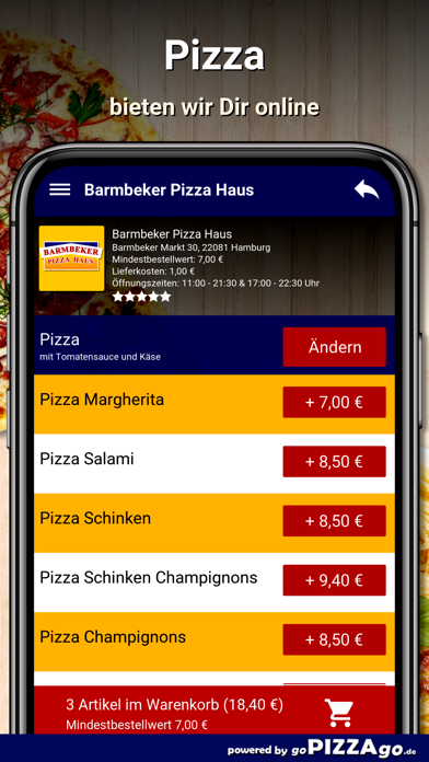 Barmbeker Pizza Haus Hamburg screenshot 1