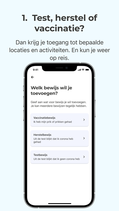 CoronaCheck iPhone app afbeelding 3