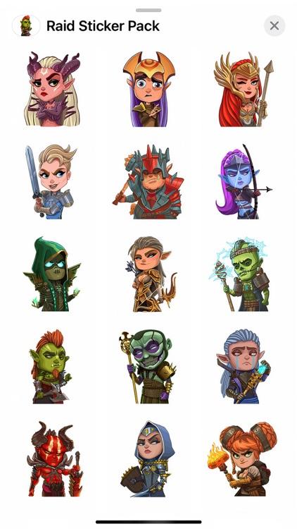 Raid Sticker Pack screenshot-3