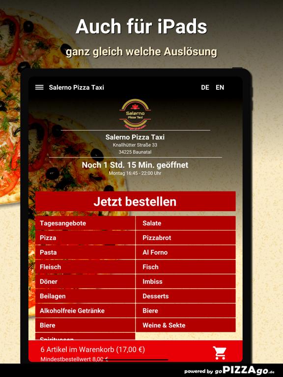 Salerno Pizza Taxi Baunatal screenshot 7