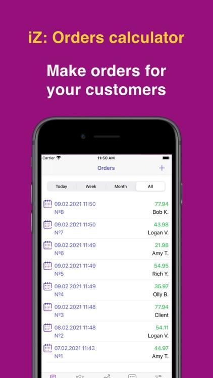 iZ: Orders calculator