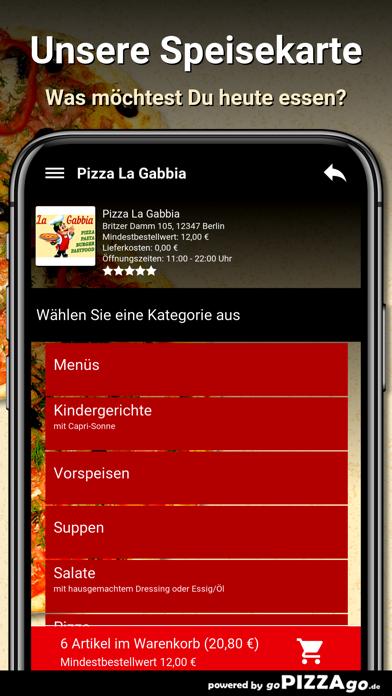 Pizza La Gabbia Berlin screenshot 4